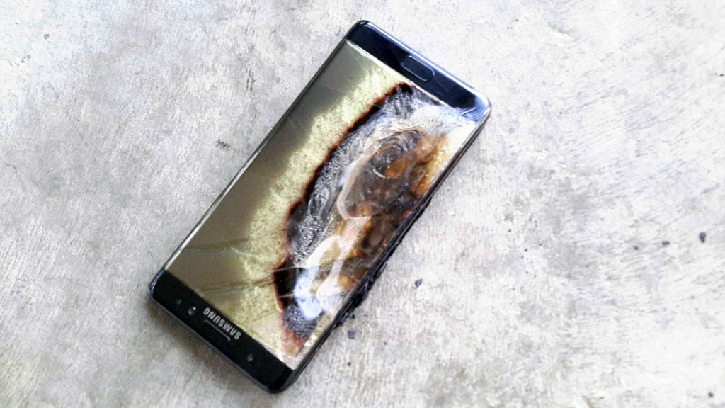 GALAXYNOTE7爆発溶ける