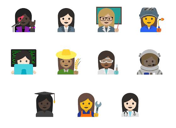 既存絵文字の刷新、Unicode 9.0の絵文字サポート