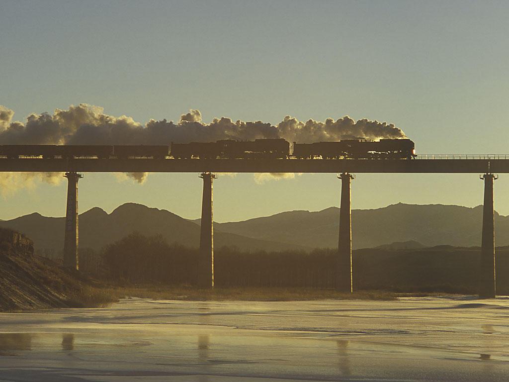 経棚鉄橋の朝