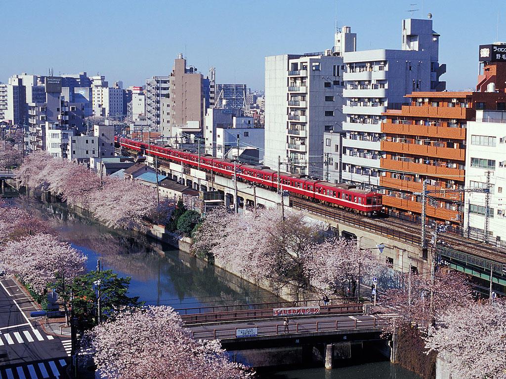 060403大岡川と京急1000
