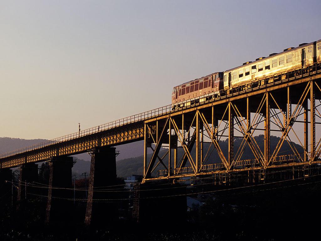 061103DD53ばんえつ物語号下り山都鉄橋