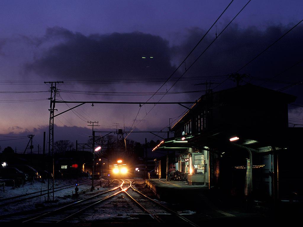 070204くりでん栗駒駅17時半