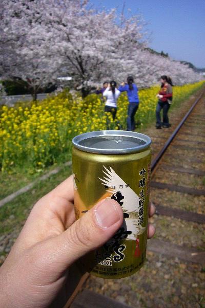 桜と来ればやはり酒