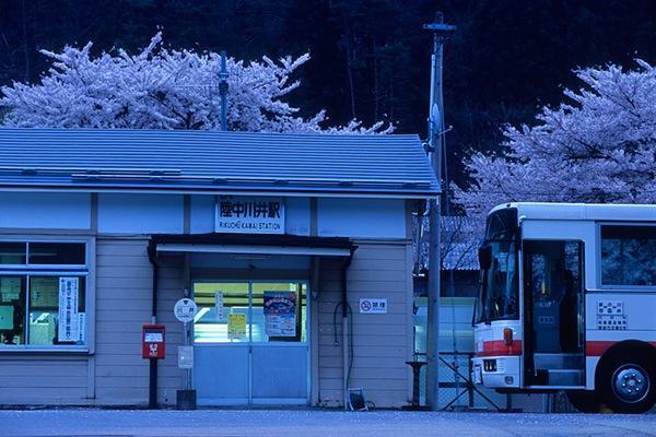 080426薄暮の陸中川井駅