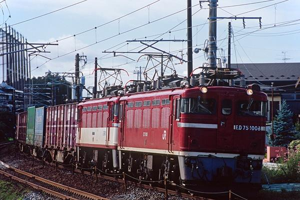 080927 南仙台駅近くのED75重連