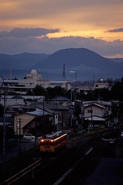 080928 古川駅新幹線ホームから見た夕景