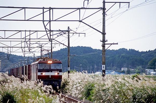 080928 松山町駅ホームから望む
