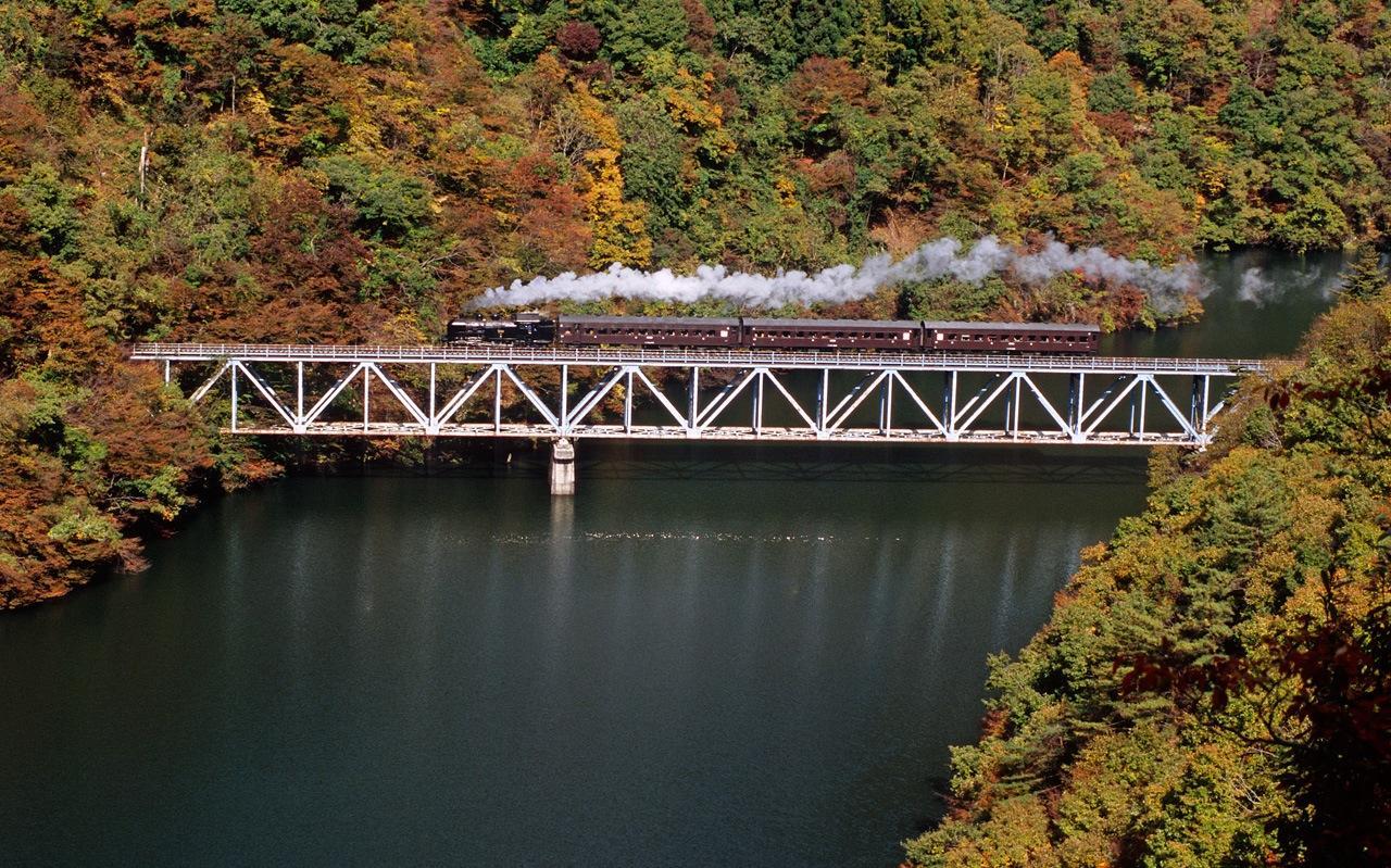 081102 第三橋梁のSL会津只見紅葉号