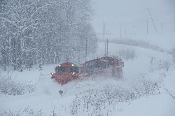 081231 音威子府で雪をかくDE15