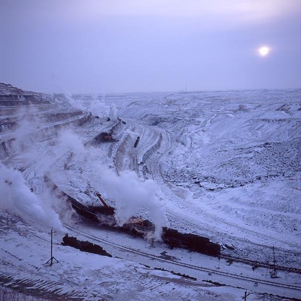090214 夕方のジャライノール露天礦