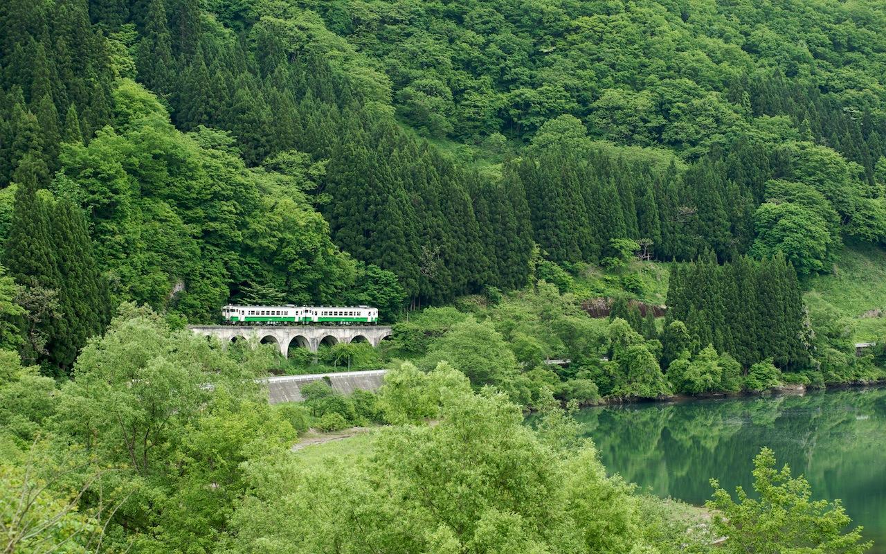090524 新緑の早戸アーチ橋