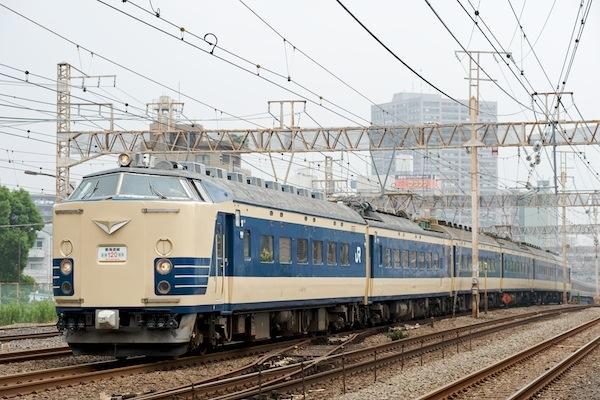 090705 東海道線を下る583系秋田車