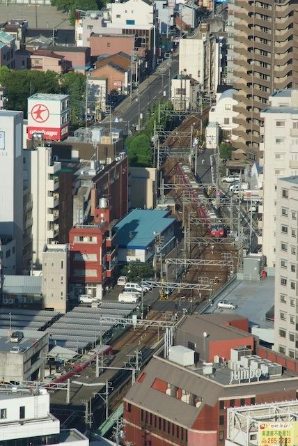 090822 各務原線岐阜駅を俯瞰