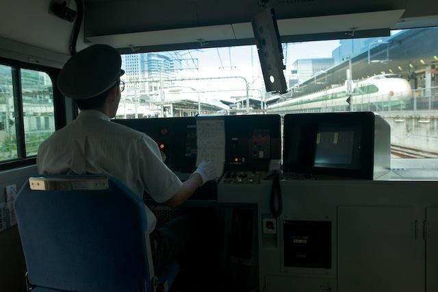 090913 東京へ入る東海道線E233系運転台