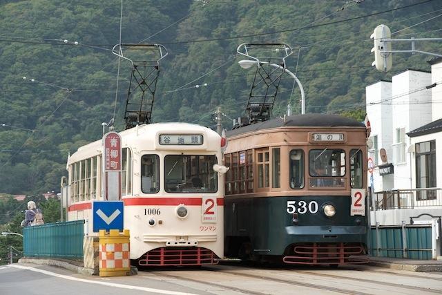 090921 函館市電530号と1006号