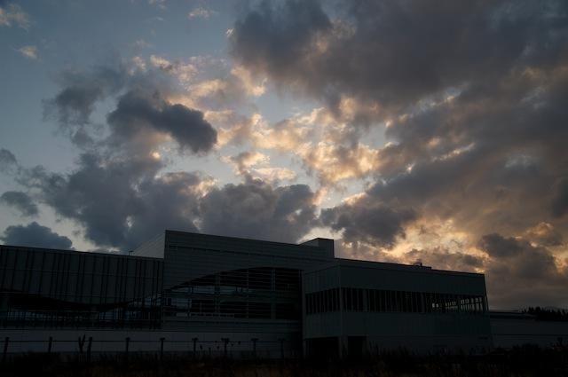 091123 十和田七戸駅の夕景