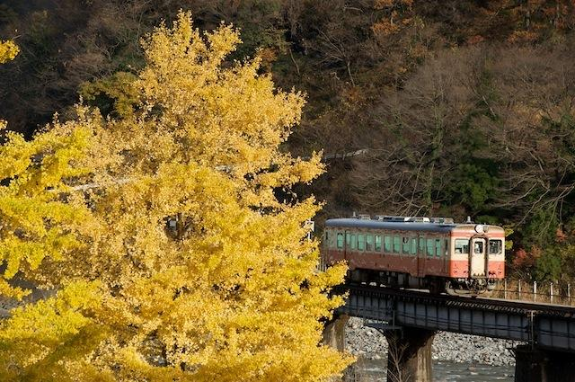 091129 小滝駅近くを走るキハ52