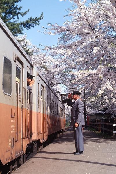 940503芦野公園駅ホームにて