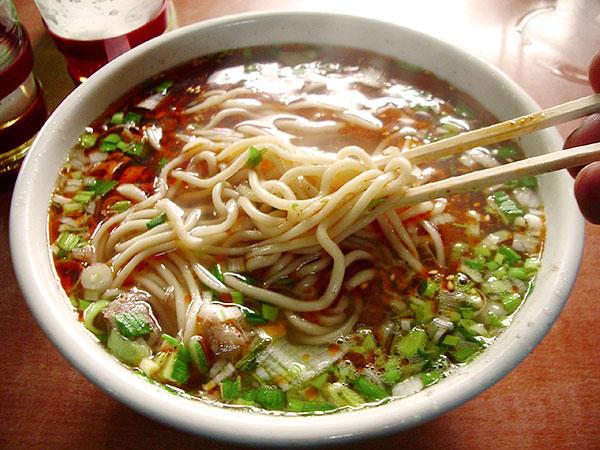劉家峡の牛肉麺