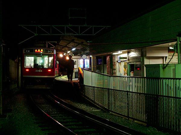 夜の風祭駅