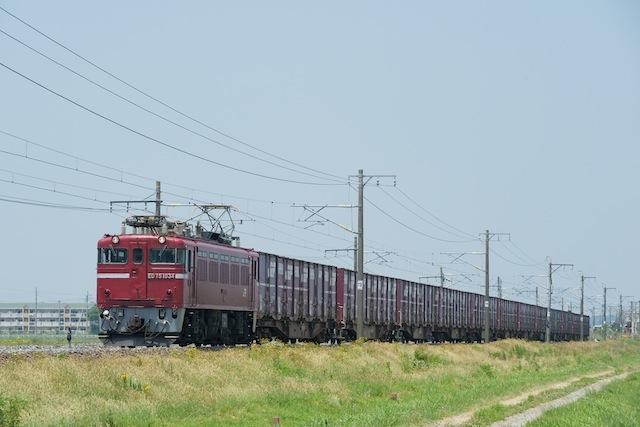 100612 松山町を走る1650列車