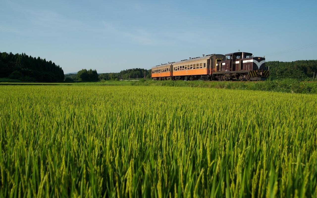 100805 毘沙門〜津軽飯詰を走る客車列車