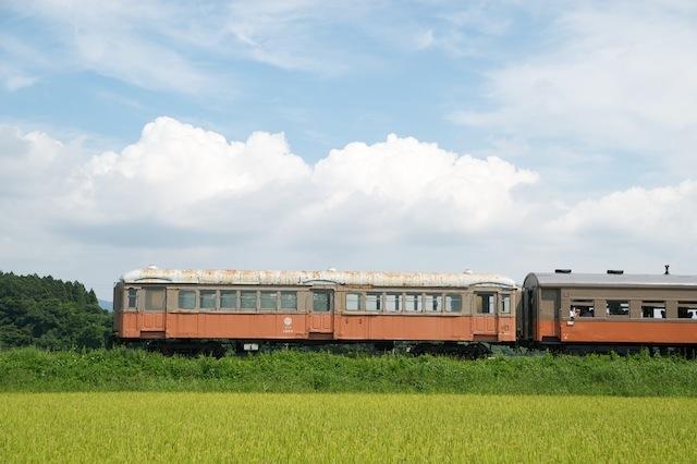 100829 津軽鉄道ナハフ1203サイドビュー