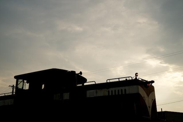 100918 津軽鉄道DD53 2のシルエット
