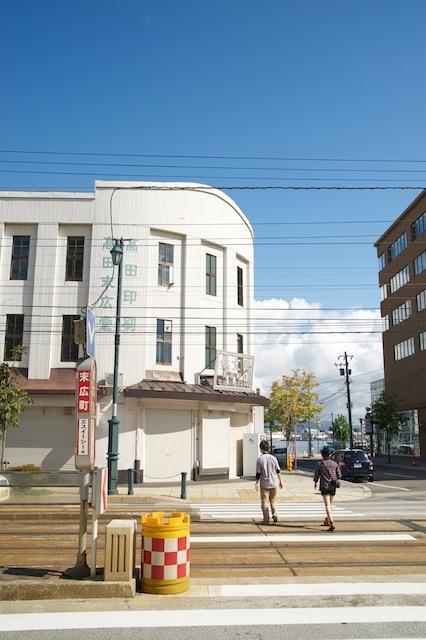 100920 末広町電停と旧金森回生堂