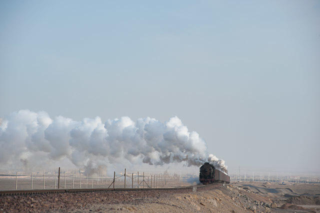 091228 柳樹泉から戻る蒸機
