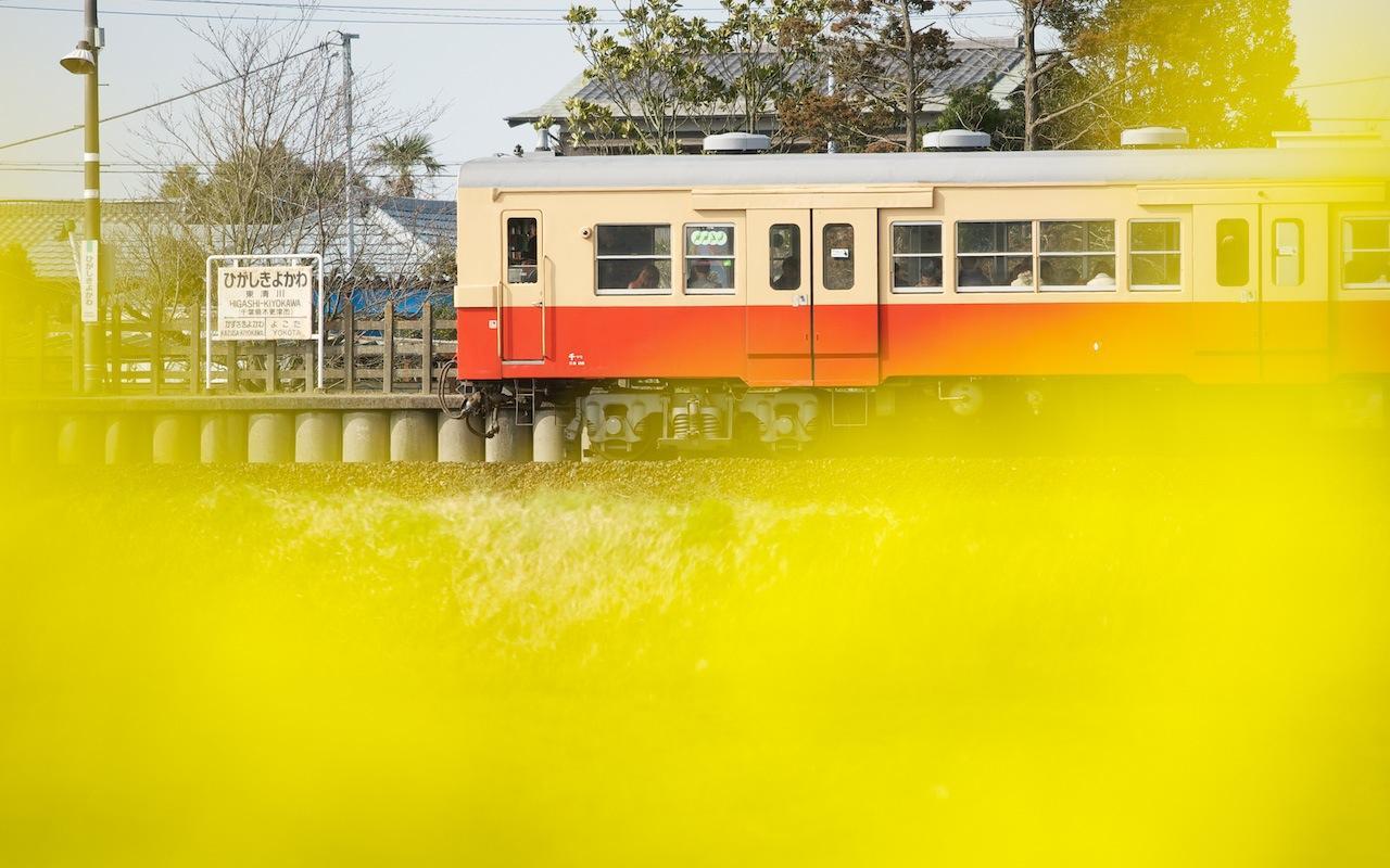 100322 東清川の国鉄色キハ30
