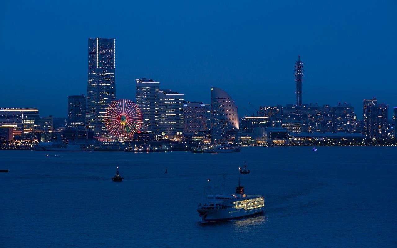 100327 スカイウォークから見たみなとみらいの夜景