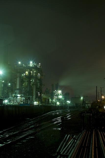 100416 千鳥町線日本触媒ヤードの夜景