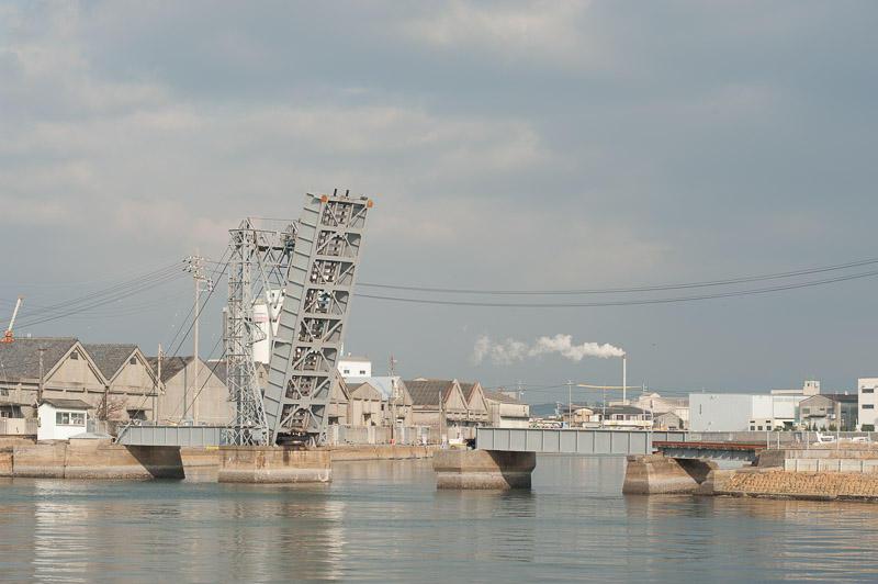 101218 開状態の末広橋梁