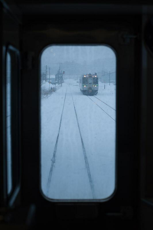 110102 黒松内駅の交換