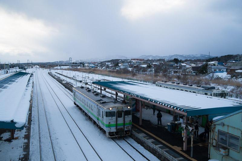 110102 単行車両が佇む長万部駅
