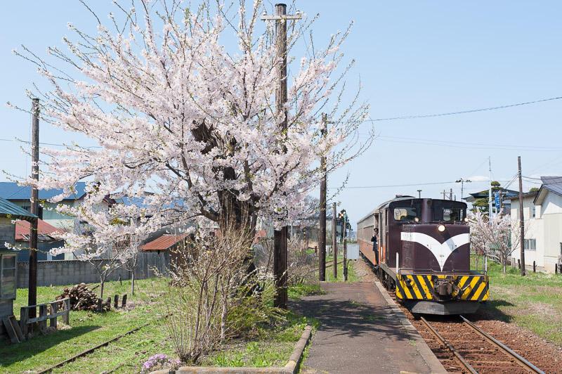 110505 嘉瀬駅に入る上り客車列車