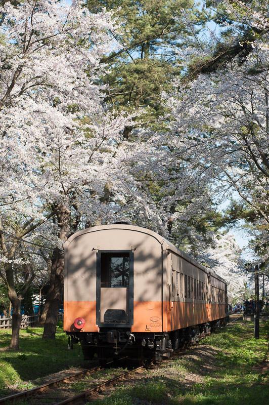 110505 芦野公園駅に入る客車列車