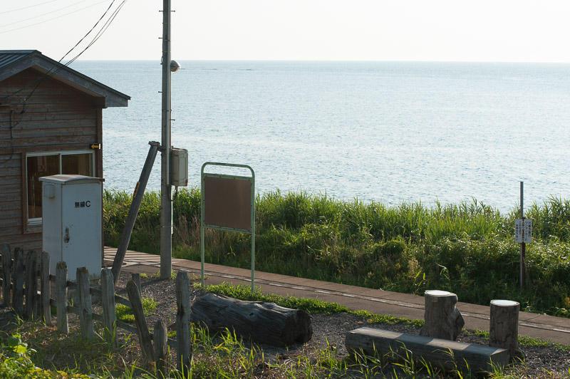 110805 日本海と驫木駅