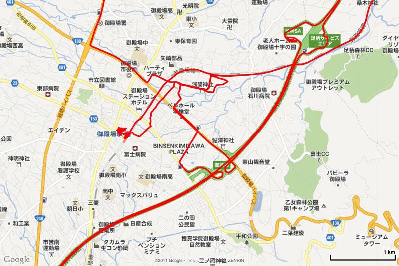 GPS-Trk2 for iPad でのGPSログ表示