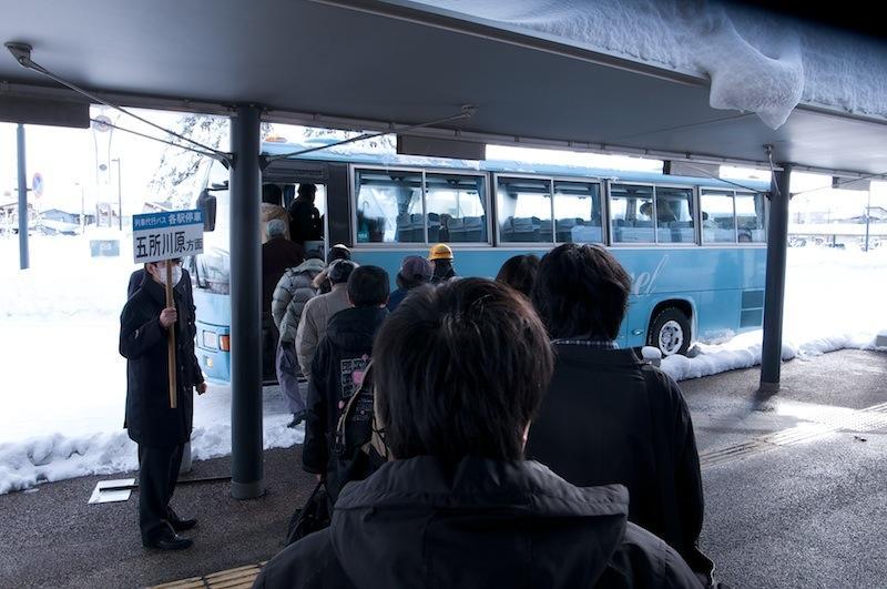120129 五能線代行バスに乗車
