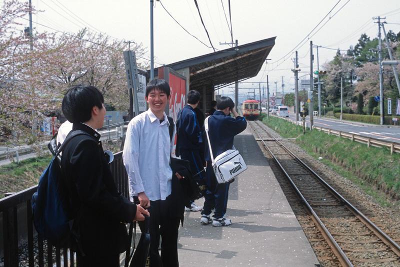 020430 工業高校前駅にて