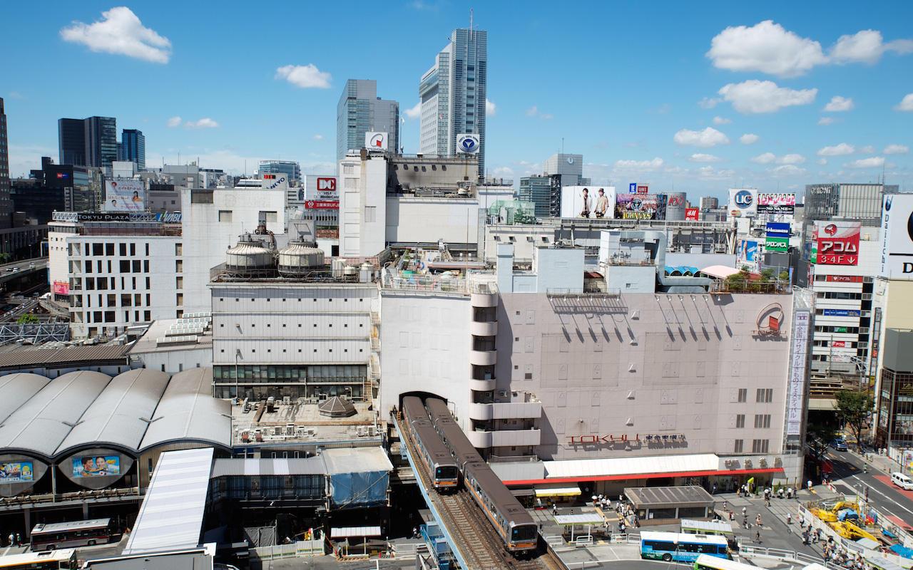 120822 ヒカリエから見た銀座線渋谷