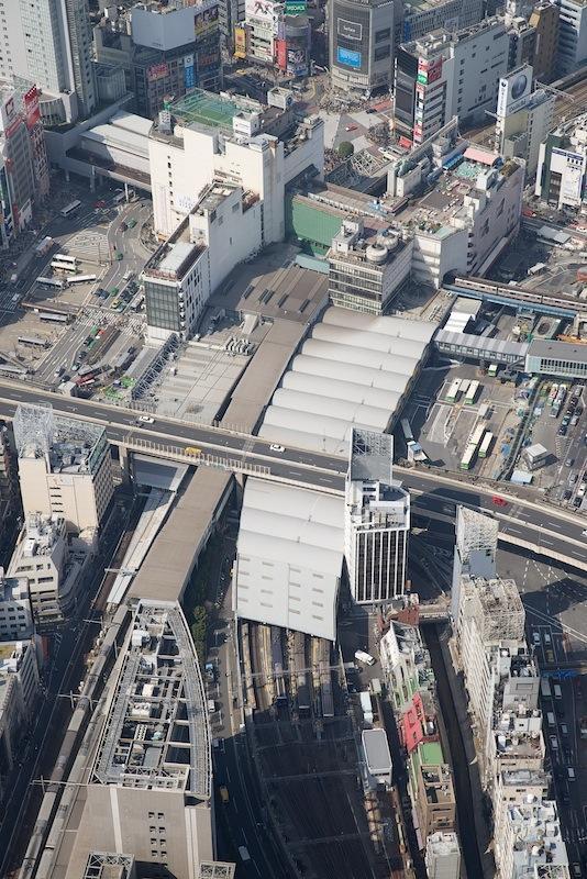 130309 南側上空から見た渋谷駅