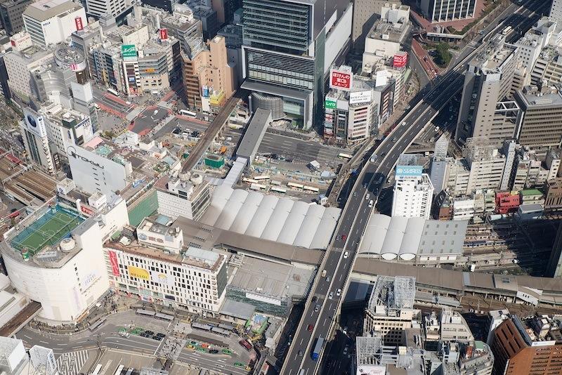 130309 渋谷駅西側上空から
