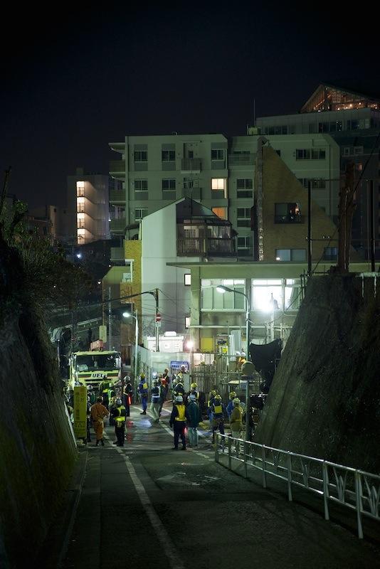 130316 午前2時過ぎの渋谷1号踏切