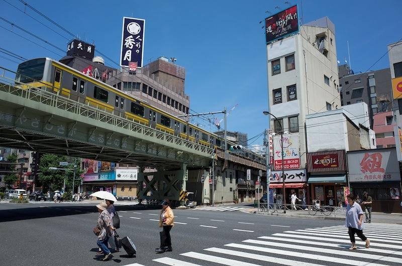130707 浅草橋ガードを走る総武線
