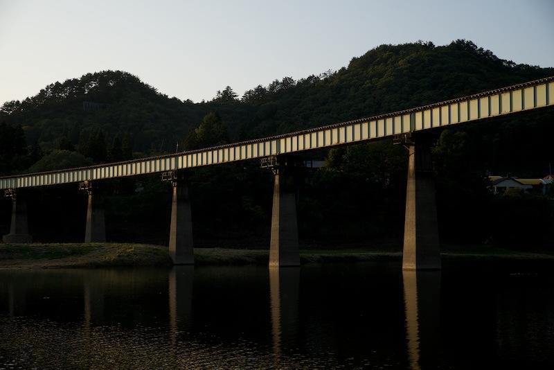 131014 夕刻の第1和賀川橋梁
