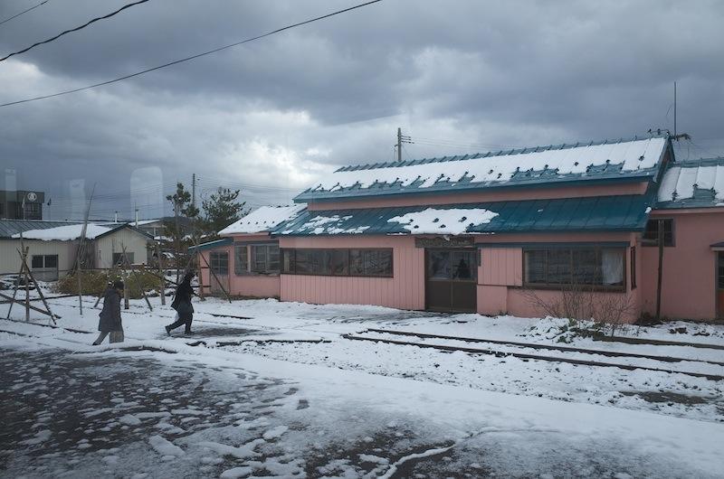 131130 津軽飯詰駅にて