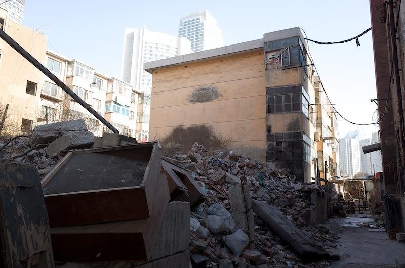 140101 世紀街裏の取り壊し